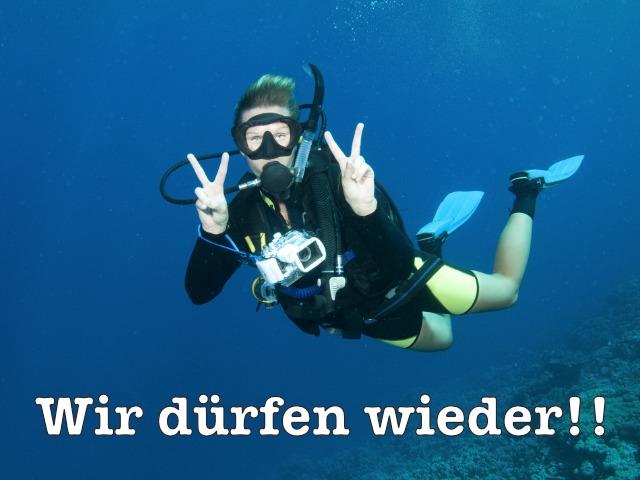 Taucher-Unterwasser