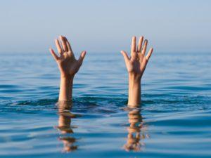 Abtauchen-Unterwasser