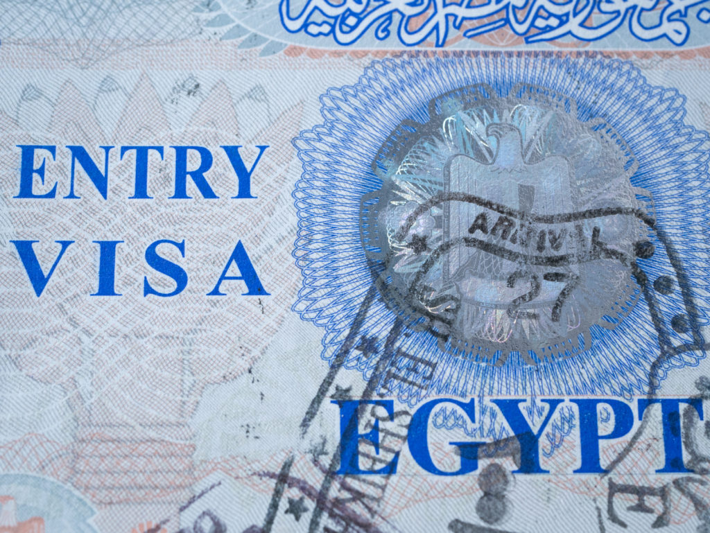 entry visa egypt