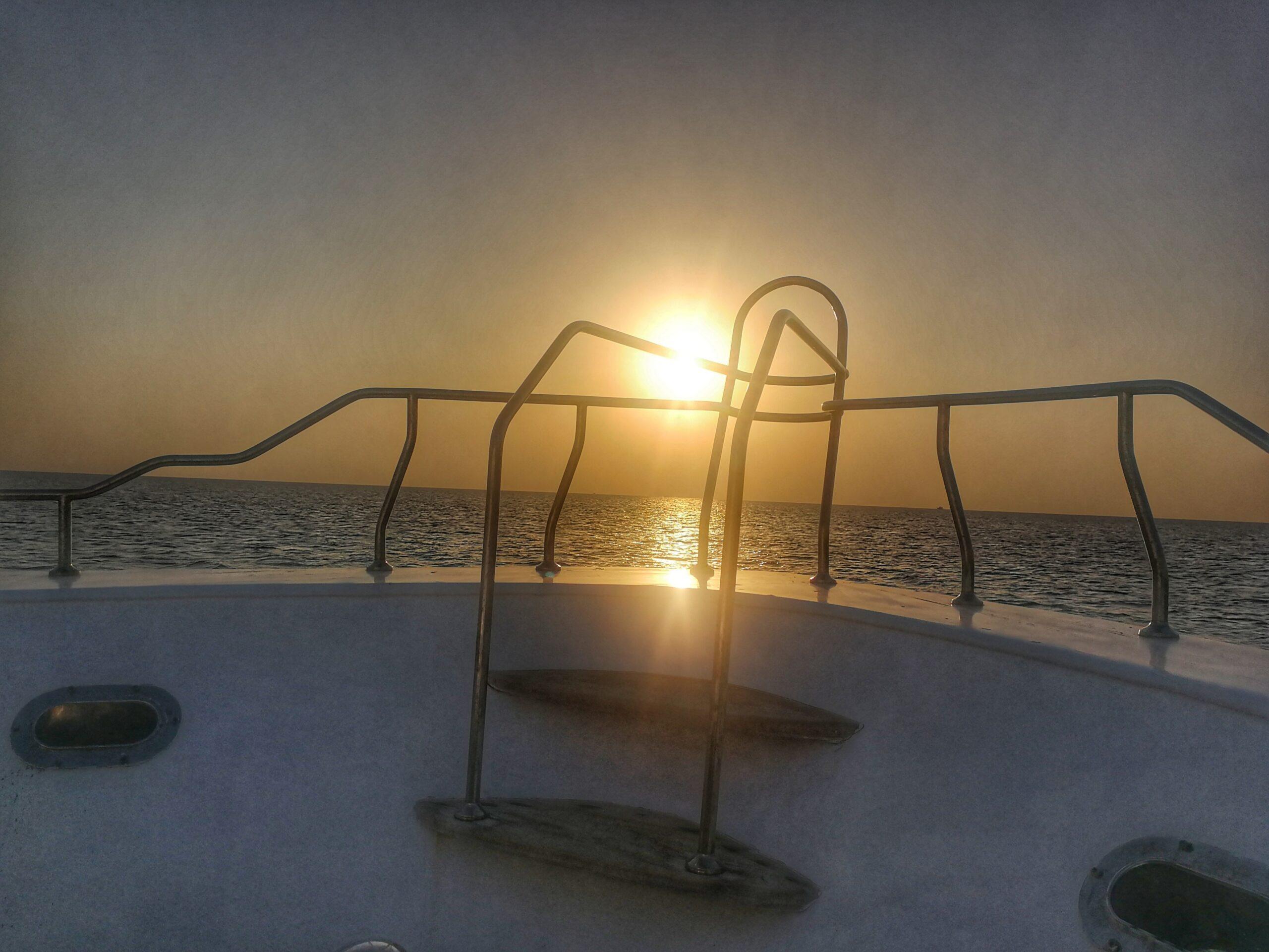 Nachts auf dem Roten Meer